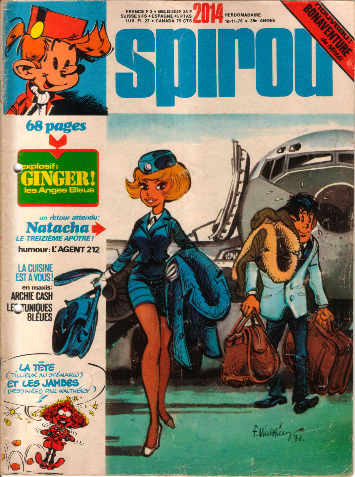 Spirou n°: 2014 du 18 novembre 1976