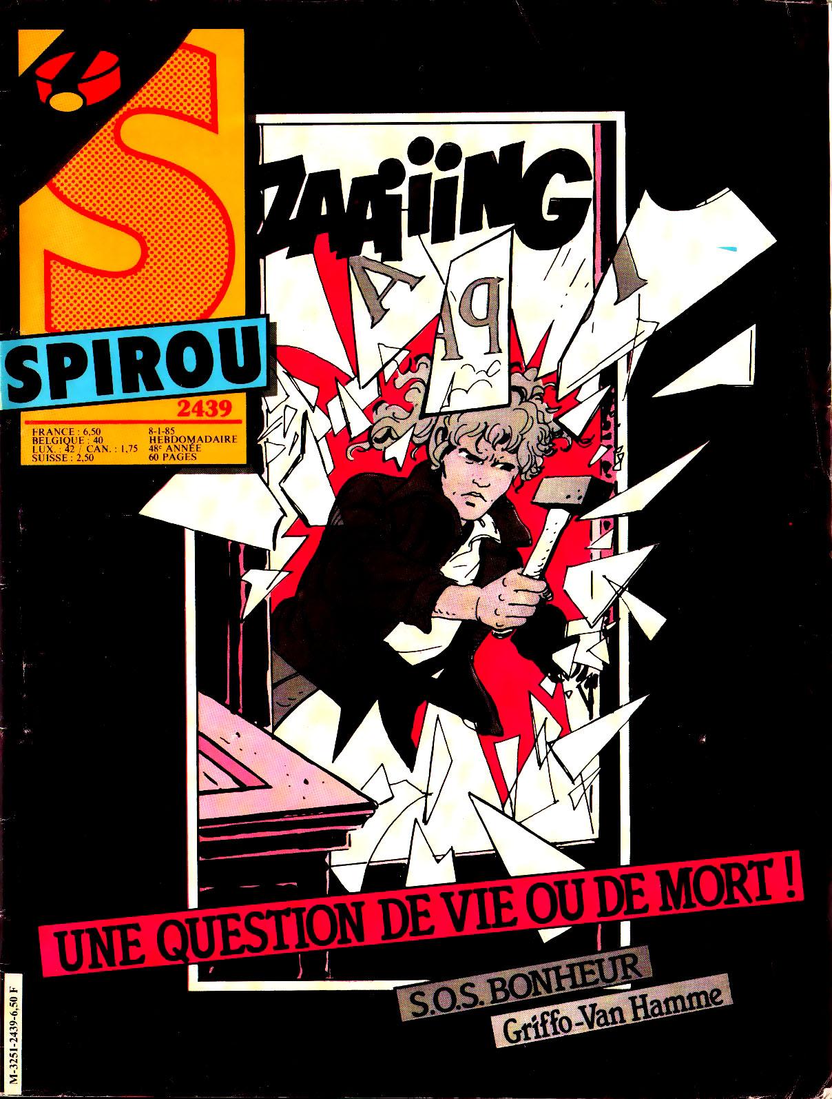 """SPIROU N°2430 /""""SOS Bonheur de Grifo et Van Hamme"""