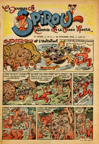 Le journal de Spirou N° 341 du 26 octobre 1944